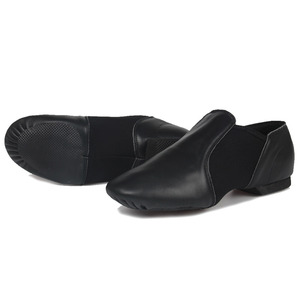Image 3 - Jazz Shoes Soft Black Genuine Leather Kids Dancing Shoes Unisex Jazz Dance Shoes Slip on Men Women Children Jazz Shoes