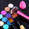 Professional 3 Pcs Makeup Brushes+15 Colors Concealer Palette+Powder Puff Cosmetic Kits Makeup Set For Foundation Blusher Powder