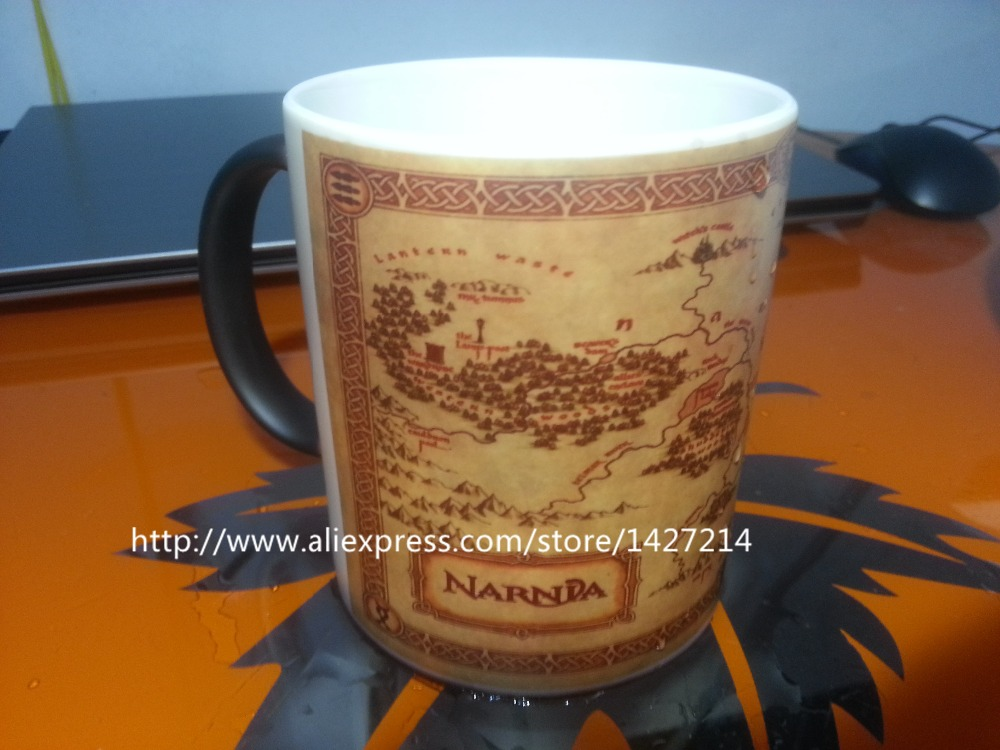 The Chronicles Of Narnia Map Clic Sci Fi Changing Color Morphing Cool Photo Coffee Mugs Travel Mug Porcelain Batman