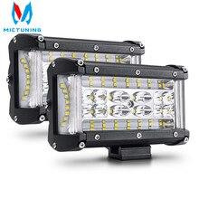 "MICTUNING 2Pcs 5 ""72W LED עבודת בר אור ספוט מבול קומבו עבודת אור Offroad נהיגה ערפל מנורה עבור 4X4 משאית טרקטורונים SUV J יפ סירה"
