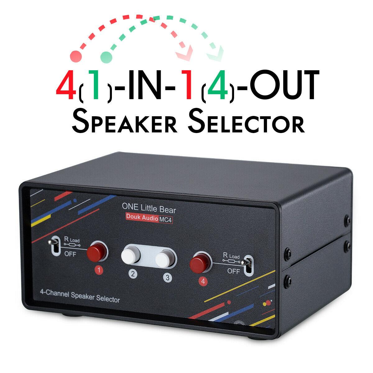 Douk Audio 4 canaux haut-parleur sélecteur boîte de commutation moyeu stéréo distributeur séparateur