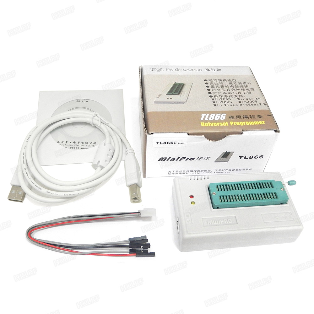 XGECU Best Quality TL866ii plus TL866CS USB Programmer MiniPro High Speed USB Programmer EPROM EEPROM FLASH