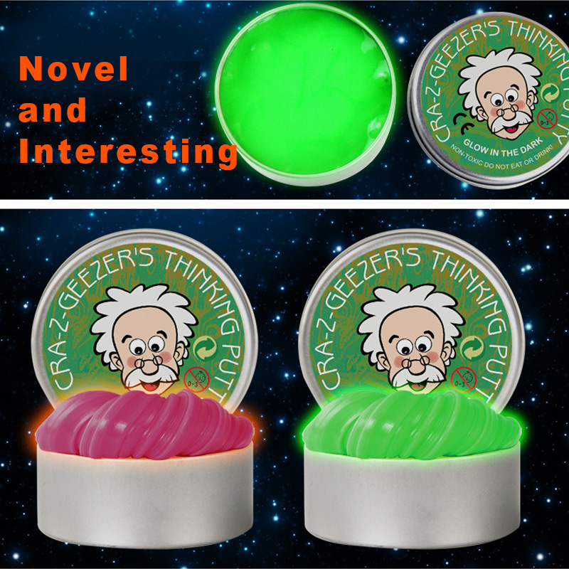 DIY Luminous Hand Gum Slime Modeling Clay Light Glow In The Dark Bouncing Mud Plasticine Playdough Creative Kids Toys