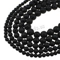 Natural Lava Beads DIY Making Loose Round Stones Beads Beading Gifts Real Black Stones Gem Stone 6/8/10/12/14/16MM Lave Beads