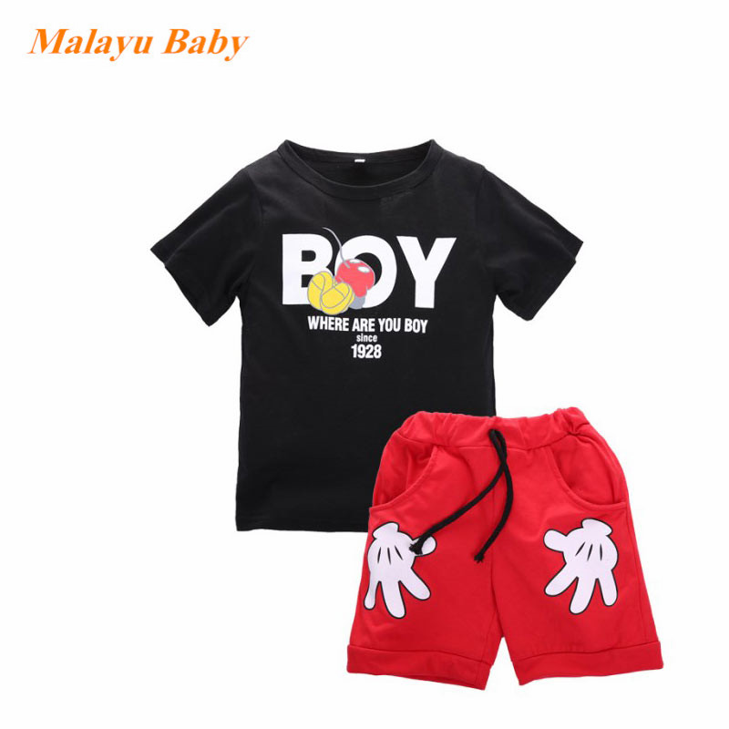 2017 New Arrival Toddler Baby Boy girl Cartoon alphabet Clothes Sets Short Sleeve Shirt+ Cute Shorts Summer Children Sets designer golf shoes boy girl new arrival