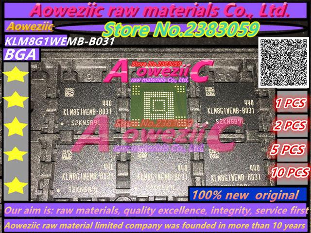 Aoweziic 100% 新オリジナルギガバイト KLM8G1WEMB B031 BGA メモリチップ EMMC 8 KLM8G1WEMB B031