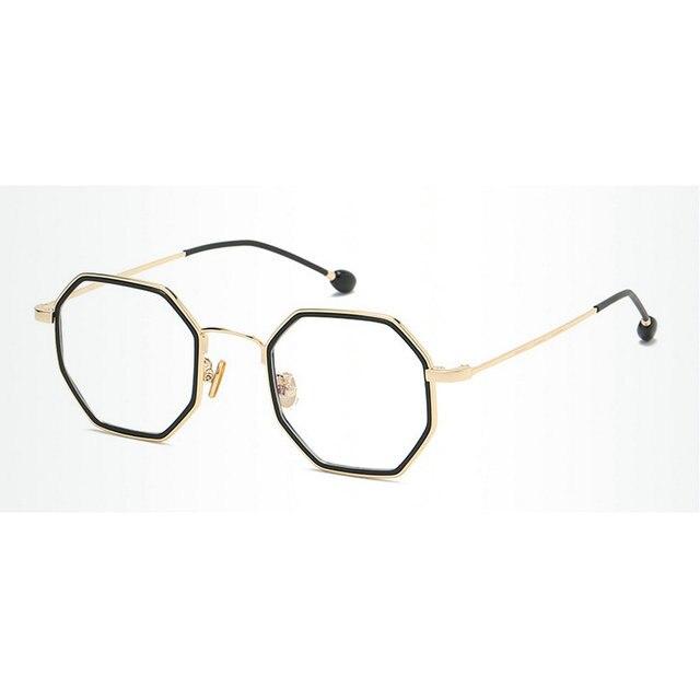 d98911a5d12 MINCL Vintage Fashion TR90 Octagon Glasses Frame Womens Mend Brand Designer  Clear Lens Glasses