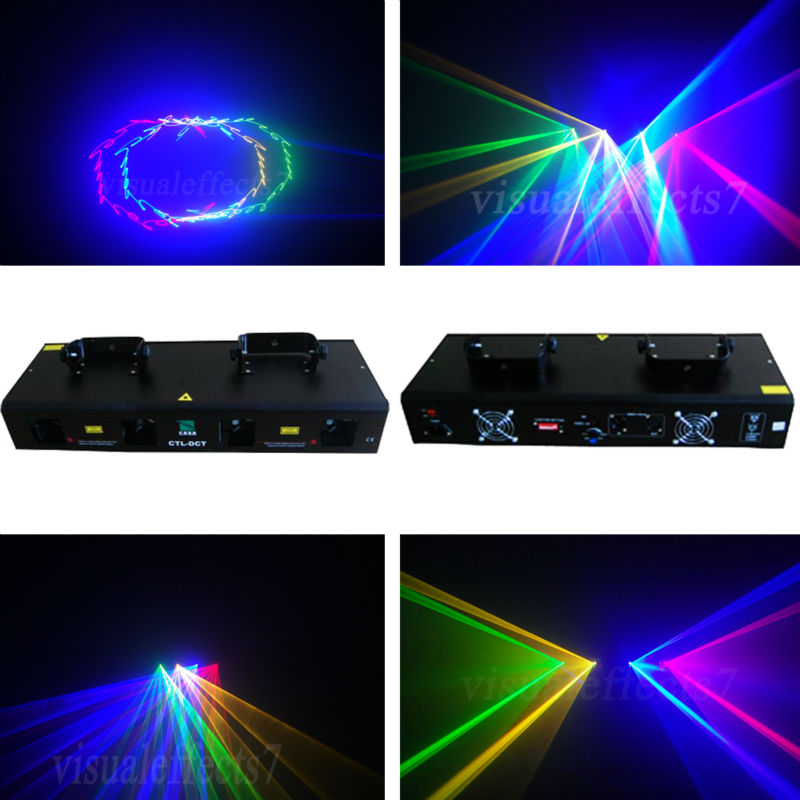 moving head lighting 50mW Green + 200mW Red laser + 250mW Yellow laser +300mW Blue laser dj light for disco party show