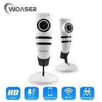 WOASER HD FishEye IP camera 720P 180 degree Full View Mini CCTV Camera IR 1.0MP Network Home Security WiFi Camera Panoramic