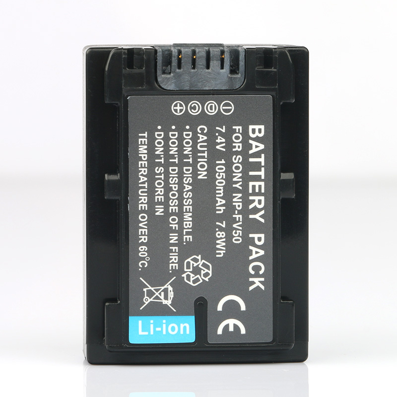 LANFULANG NP-FV50 NP FV50 Lithium Ion Replacement Battery for <font><b>Sony</b></font> FDR-AX40 HDR-<font><b>CX110</b></font> HDR-CX115 HDR-CX116 HDR-CX130 HDR-CX170 image
