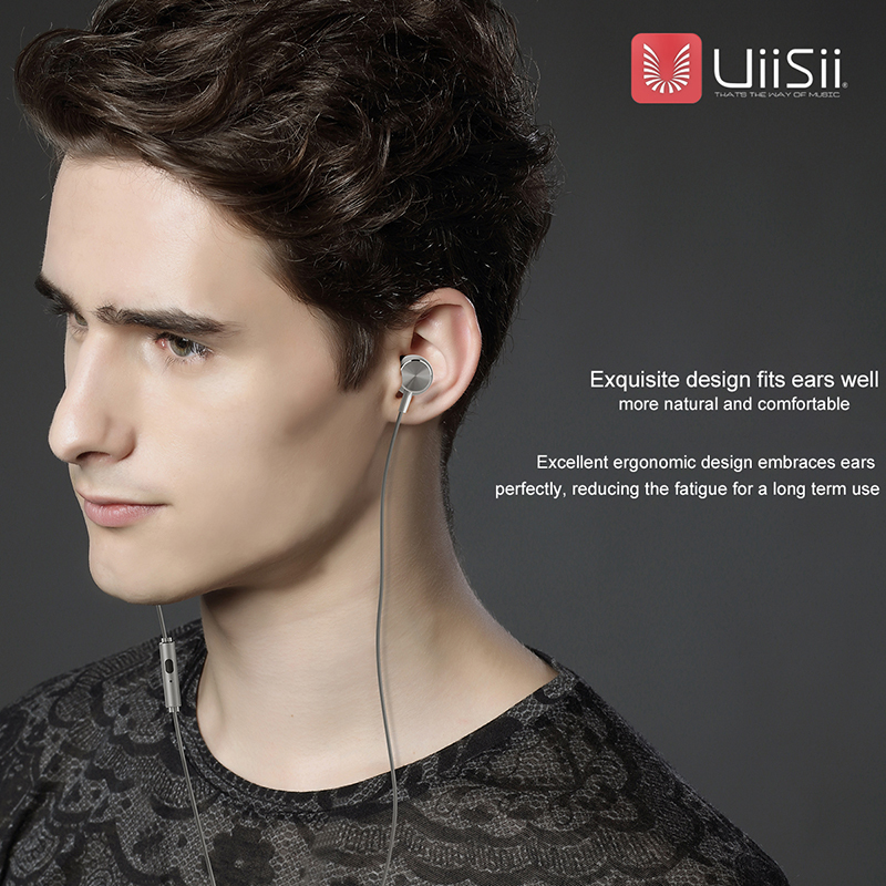 Auriculares Subwoofer Headset UiiSii GT500 In-ear Earphones MP3 Music Playing Wired Earphone Earbuds for Mobile Phones Earpiece