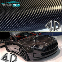 Free Shipping 200x50cm 4D Carbon Fiber Vinyl Film 3M Car Sticker Waterproof DIY Car Styling Color