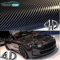 Free Shipping 200x50cm 4D Carbon Fiber Vinyl Film 3M Car Sticker Waterproof DIY Car Styling Color