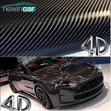 Бесплатная доставка 200×50 см 4D углерода Волокно винил Плёнки 3 м автомобиля Стикеры Водонепроницаемый DIY автомобиля Стайлинг Цвет обёрточная бумага с розничной упаковке