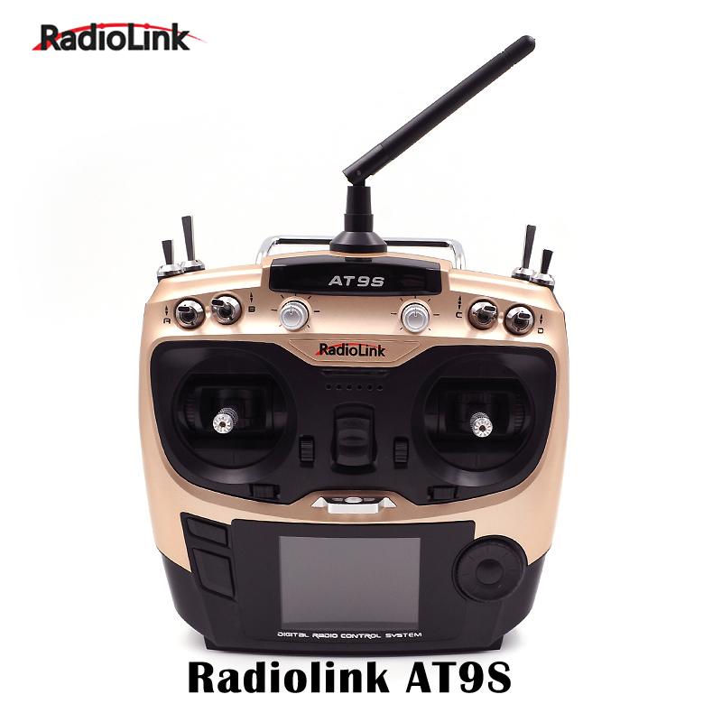 Radiolink AT9S 2.4Ghz 10CH Transmitter Remote Control with R9DS Receiver AT9 Upgraded Version Radio System for rc helicopter rl t9v1 9 ch digital wireless remote control transmitter w receiver for r c toys black silver