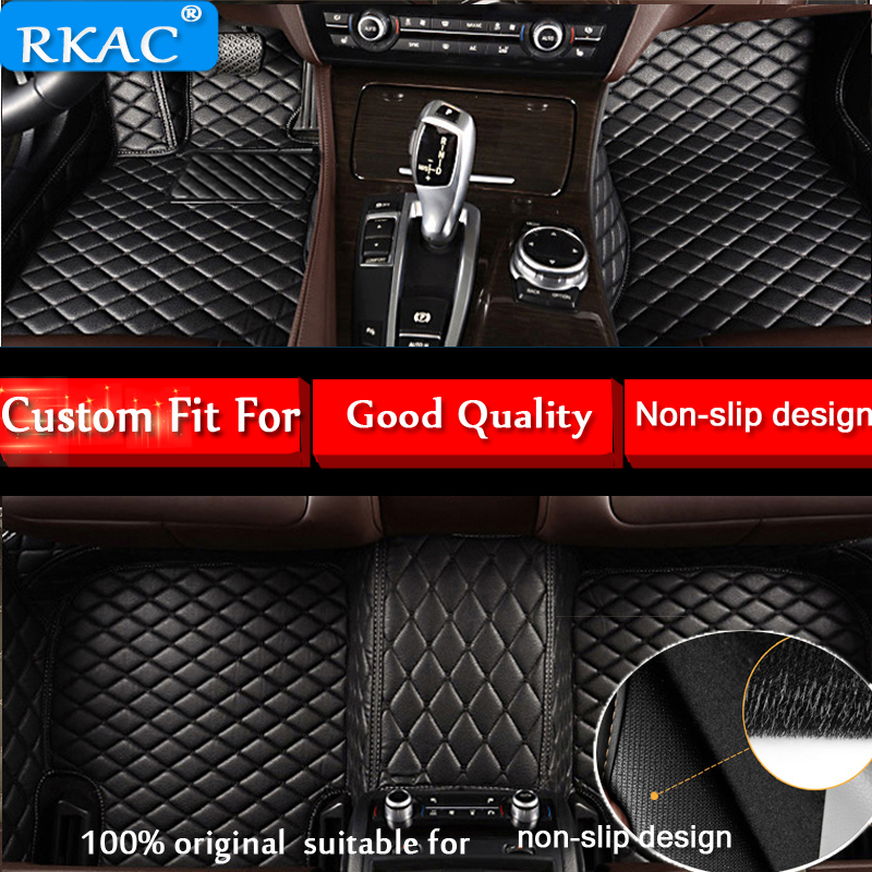 RKAC Custom Fit for Volkswagen VW golf 7 2014 2015 2016 2017 2018 car floor mats for auto car mats waterproof leather carpets