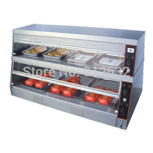 1500mm commercial display showcase, food warmer displayer with 2 layer, 7pans цена и фото