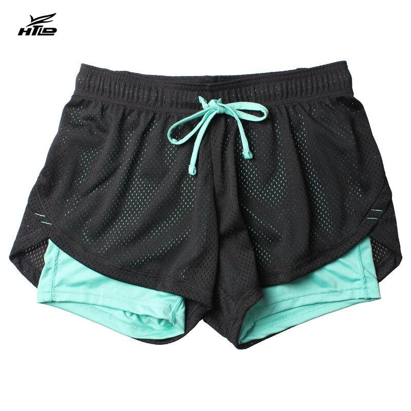 HTLD Sommer Doppelschicht Shorts Frauen Dünne Fitness Shorts Frauen Elastische Beiläufige Kurzschlussfrau Joggings pantalones cortos mujer
