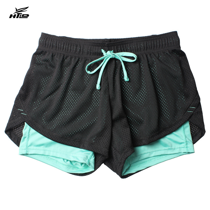 HTLD Summer Double Layer   Shorts   Women Skinny Fitness   Shorts   Women Elastic Casual   Shorts   Female Joggings pantalones cortos mujer