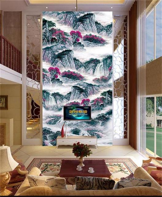 Custom Size Photo Mural Living Room Porch 3d Wallpaper Art Oil Painting  Landscape Picture Wall Murals