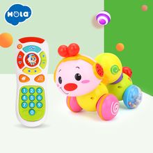 Купить с кэшбэком baby toys crawling insect toy combination music phone phone children toddler 6 months 0-1 years old baby