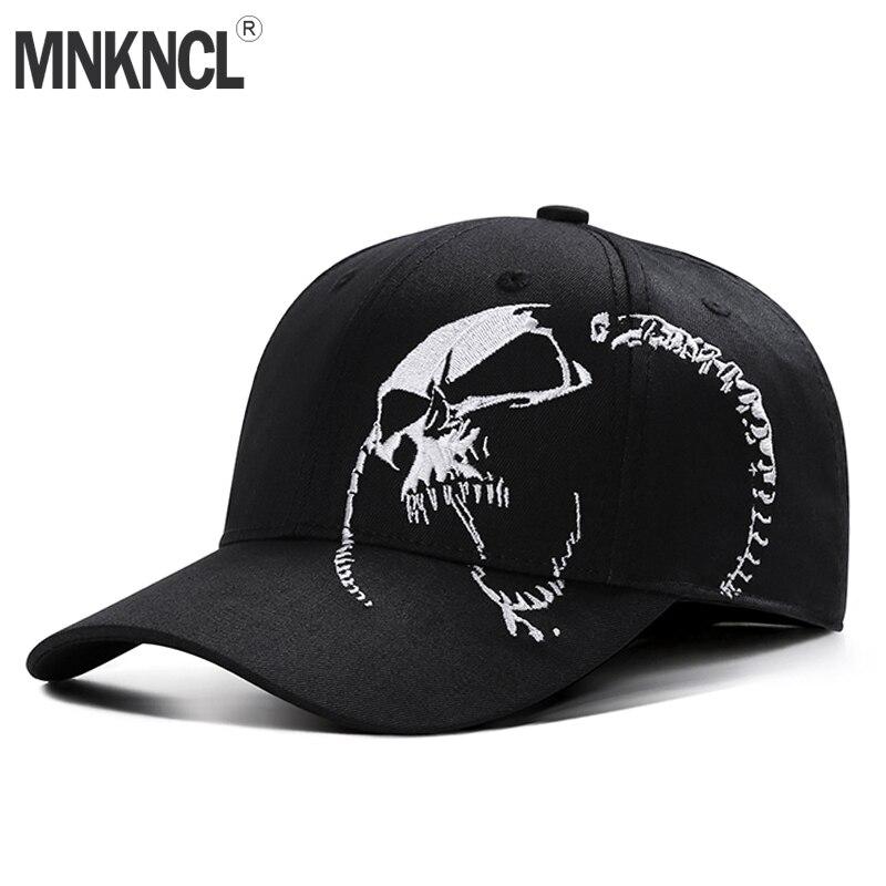 Gorra de béisbol de alta calidad Unisex 100% algodón al aire libre con bordado de calavera gorras deportivas de moda para hombres y mujeres