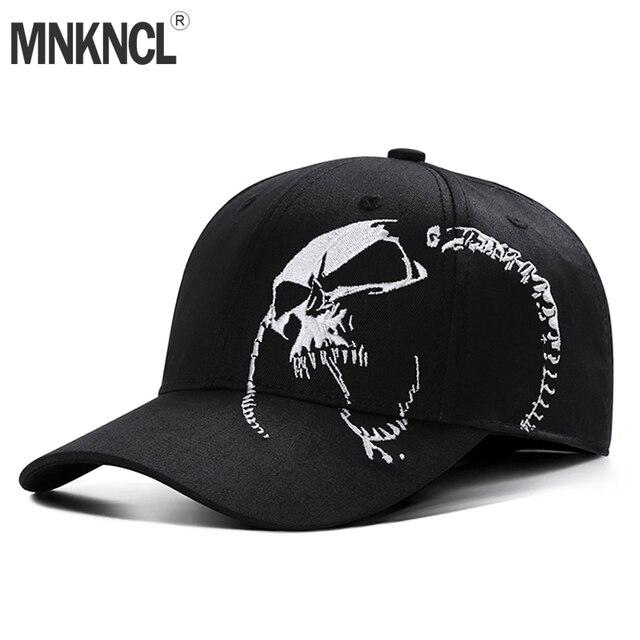 Kualitas tinggi Unisex 100% Katun Topi Bisbol Luar Tengkorak Bordir  Snapback Mode Topi Untuk Pria afcb05e9f5