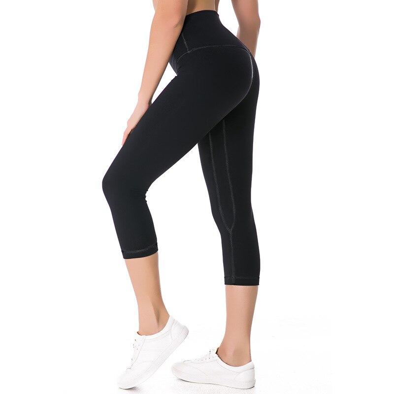 2019 NWT Eshtanga Women Sports Capris Yoga High Elastic Waist Solid Skinny Stretch Capris Leggings Size XXS-XL Free Shipping