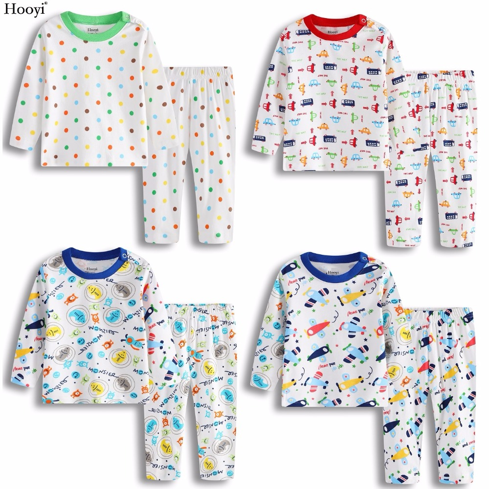 2020 Baby Boys Pajamas Clothes Suit 100% Cotton Fashion Children Sleepwear Top Quality Newborn T-Shirt Pant Set 0 1 2 Year