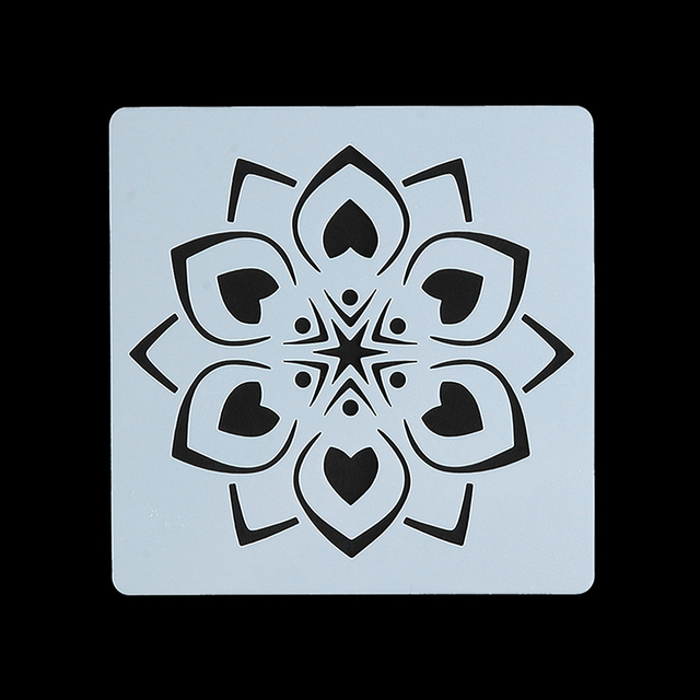 Flower Mandala Stencil for Painting and Dotting
