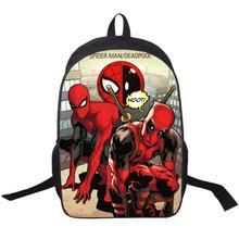 Comics Spiderman Deadpool Backpack For Teenager Girls Boys School Backpacks Children School Bags The Avengers Backpack Kids Bag