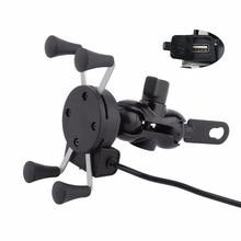 バイクミラー X 3.5 6 インチ携帯電話用 Usb 充電器エレクトラグライドソフテイル道路王