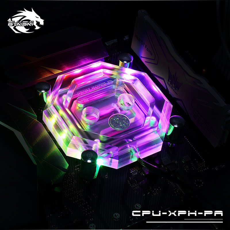Bykski Computer RBW CPU Water Block Supports motherboard synchronization For AMD For INTEL CPU-XPH-PA цена 2017