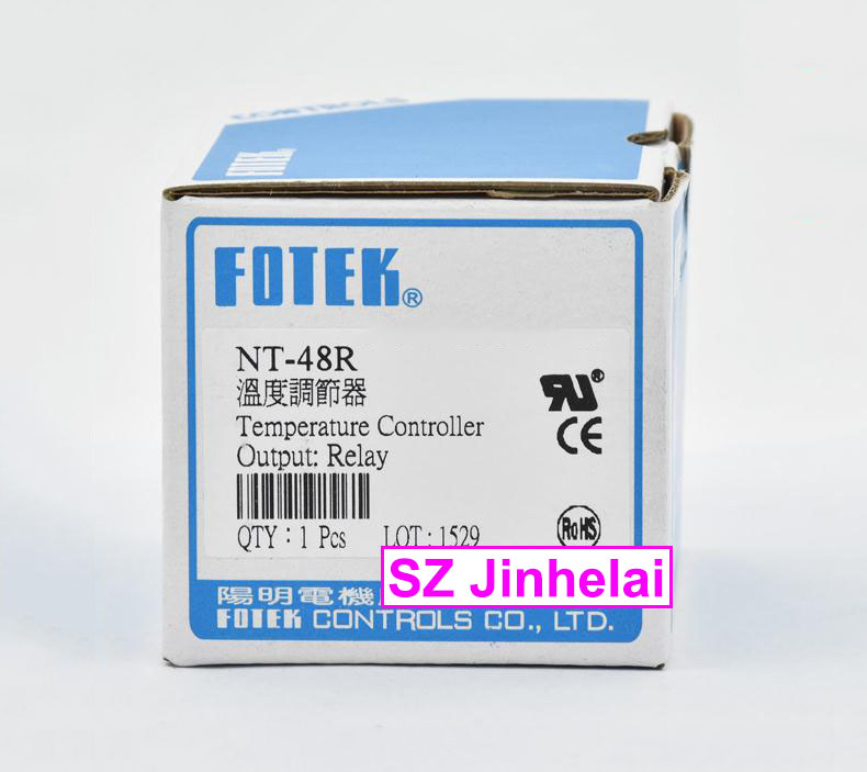 100% New and original FOTEK Temperature controller  NT48-R (NT-48)  90-265VAC  Relay output 100% new and original fotek photoelectric switch a3g 4mx mr 1 free power photo sensor