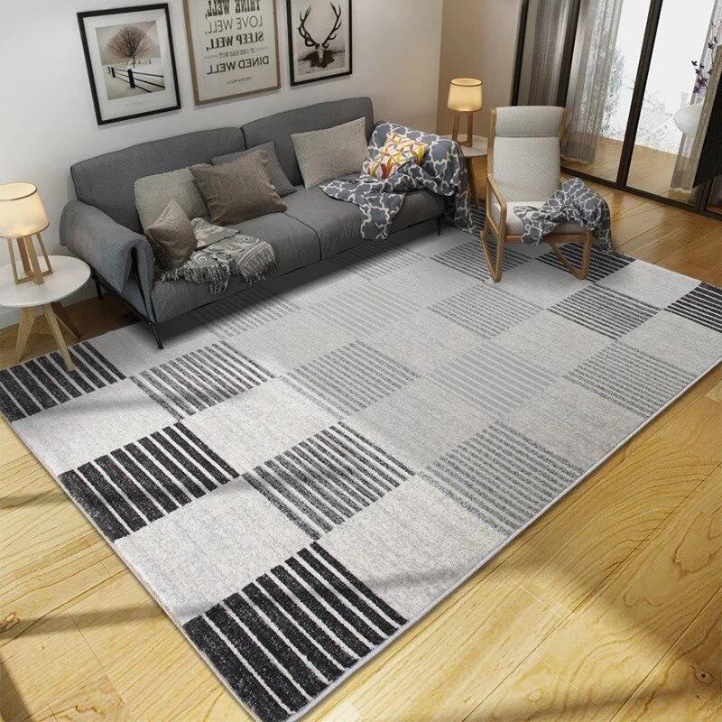 Tapis gris nordique tapis chambre tapis antidérapant tapis de sol super doux tapis décoratif pour tapete de salon - 3