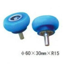 4PCS/LOT M10-60x30MxR15  Woodworking Wrapping Machine Silicon Rubber wheels Round Step Bearing Wheel