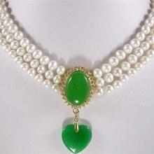 Аксессуары подарок натуральный белый жемчуг 7- 8 мм пересмотр в форме сердца greenstick подвеска и а. а.* хороший