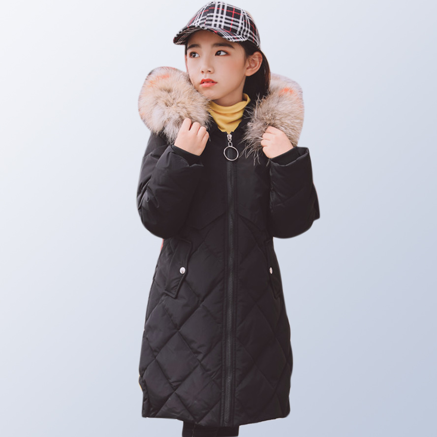 Baby Girl Clothes Winter 2018 Teenage Girls Coats Jackets with Fur Kids Winter Jacket Coat for Children 6 8 10 12 14 Years Old 2018 baby girls red cardigan floral design cute spring coat for children teenage spring clothes age 456789 10 11 12 years old