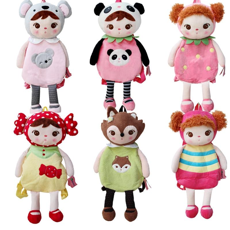 Orignal Metoo keppel dolls cute cartoon children plush backpack bag elementary school kindergarten for kids classic style