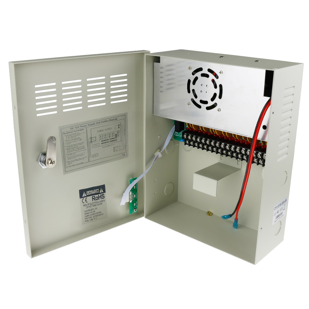 ФОТО 8PCS UPS Power Supply Box For Security Cameras DC 12V 20A 18 Channels Uninterruptable Power