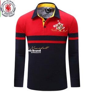 Image 5 - Avrupa boyutu yeni marka erkek katı uzun kollu Polo GÖMLEK sonbahar tam kollu sıcak gömlek Casual baskı üstleri kot mavi 057