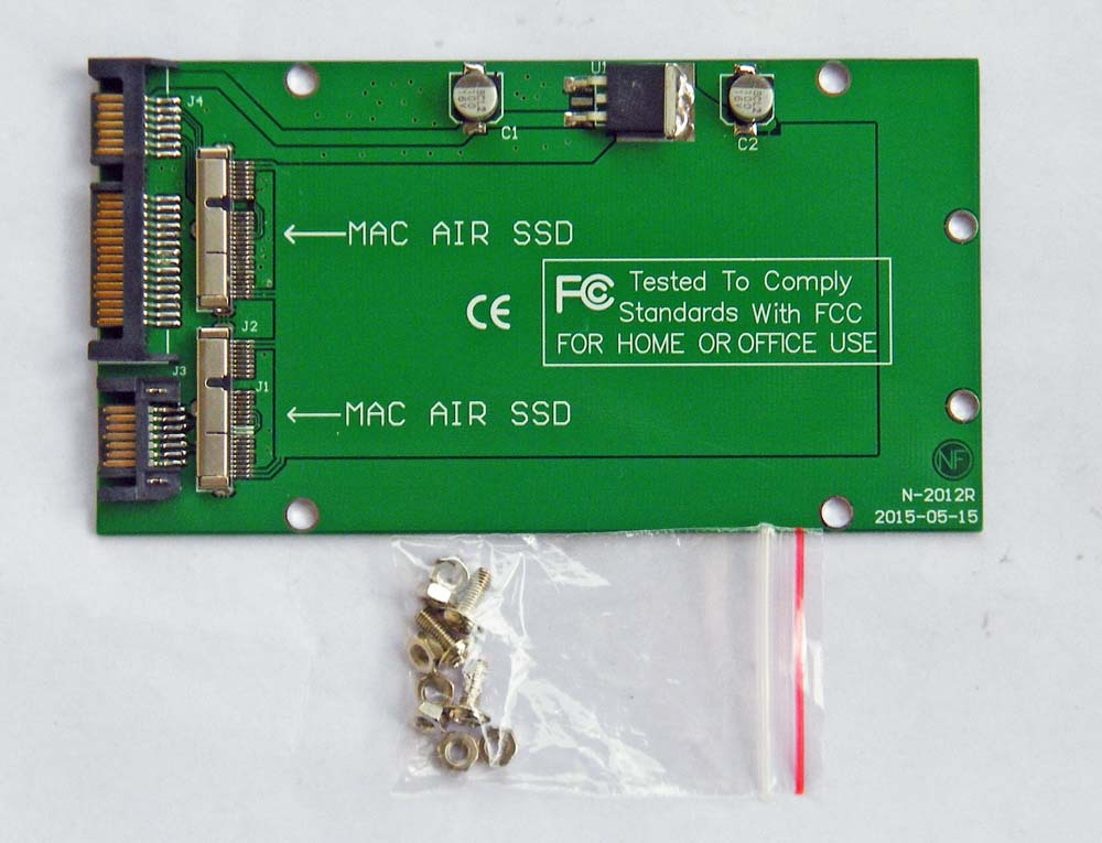 adapter card to 7+17 PIN 64G 128G 256G 512G M.2 NGFF SSD for 2012 MacBook Air A1465 A1466 MD223 MD224 MD231 MD232 8+18pin