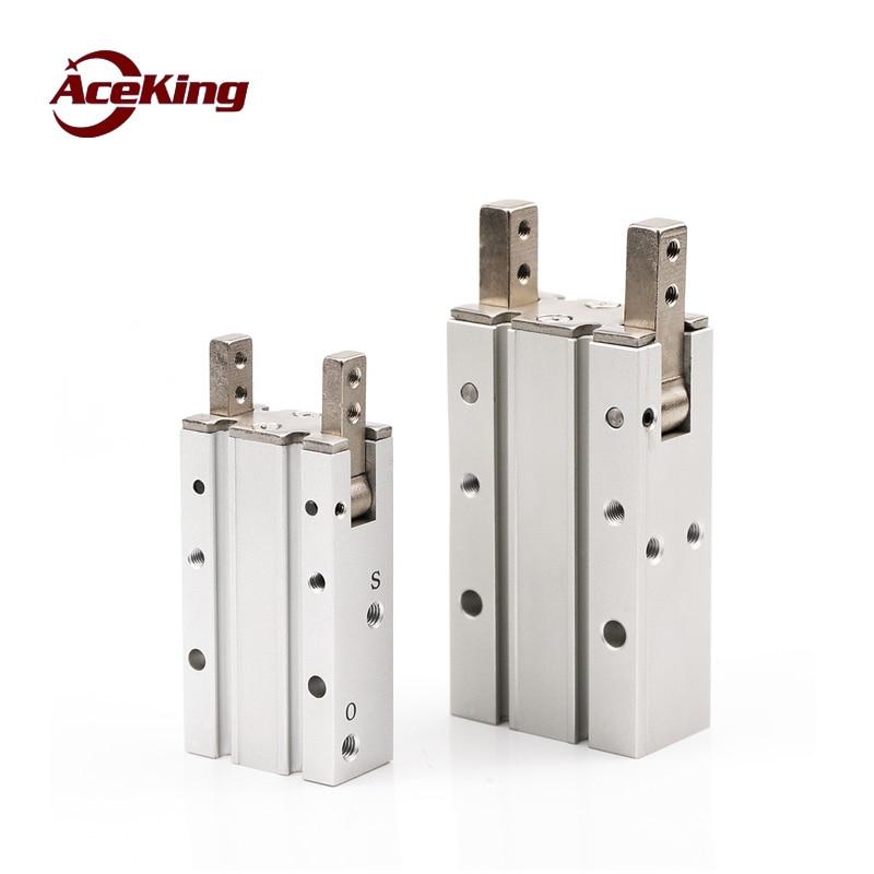 Mhy2-20d mhy2-16d Mhy2-10d \ \ \ 25D 180-grau de abrir-fechar cilindro dedo garra ar paralelo mecânica aberto -perto da garra