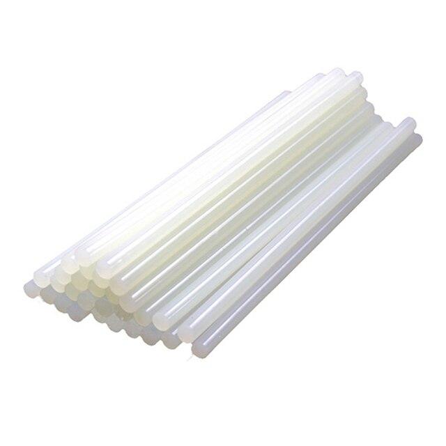 30Pcs/Sets 7mm x 100mm Hot Melt Gun Glue Sticks Plastic Transparent Sticks for Glue Gun Home Power Tool Accessories