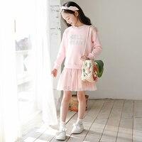 db06916153d83 Brand Girls Princess Dress 2019 New Summer Baby Dress Kids Mesh Patchwork  Dress Cute Children Sweatshirt