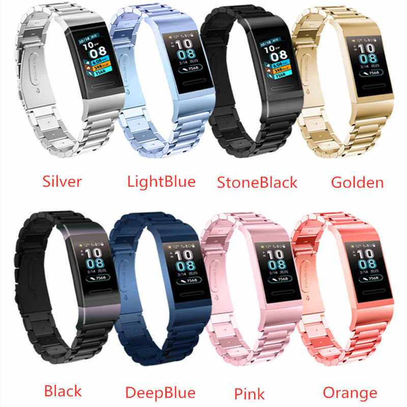 Stainless Metal Wrist Strap For Huawei Honor Band 3 Smart Bracelet Three Beads Watch Band For Huawei Honor Band 3