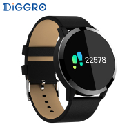 Diggro Q8 OLED Bluetooth Fitness Smart Watch Stainless Steel Waterproof Wearable Device Smartwatch Wristwatch Men Women Tracker