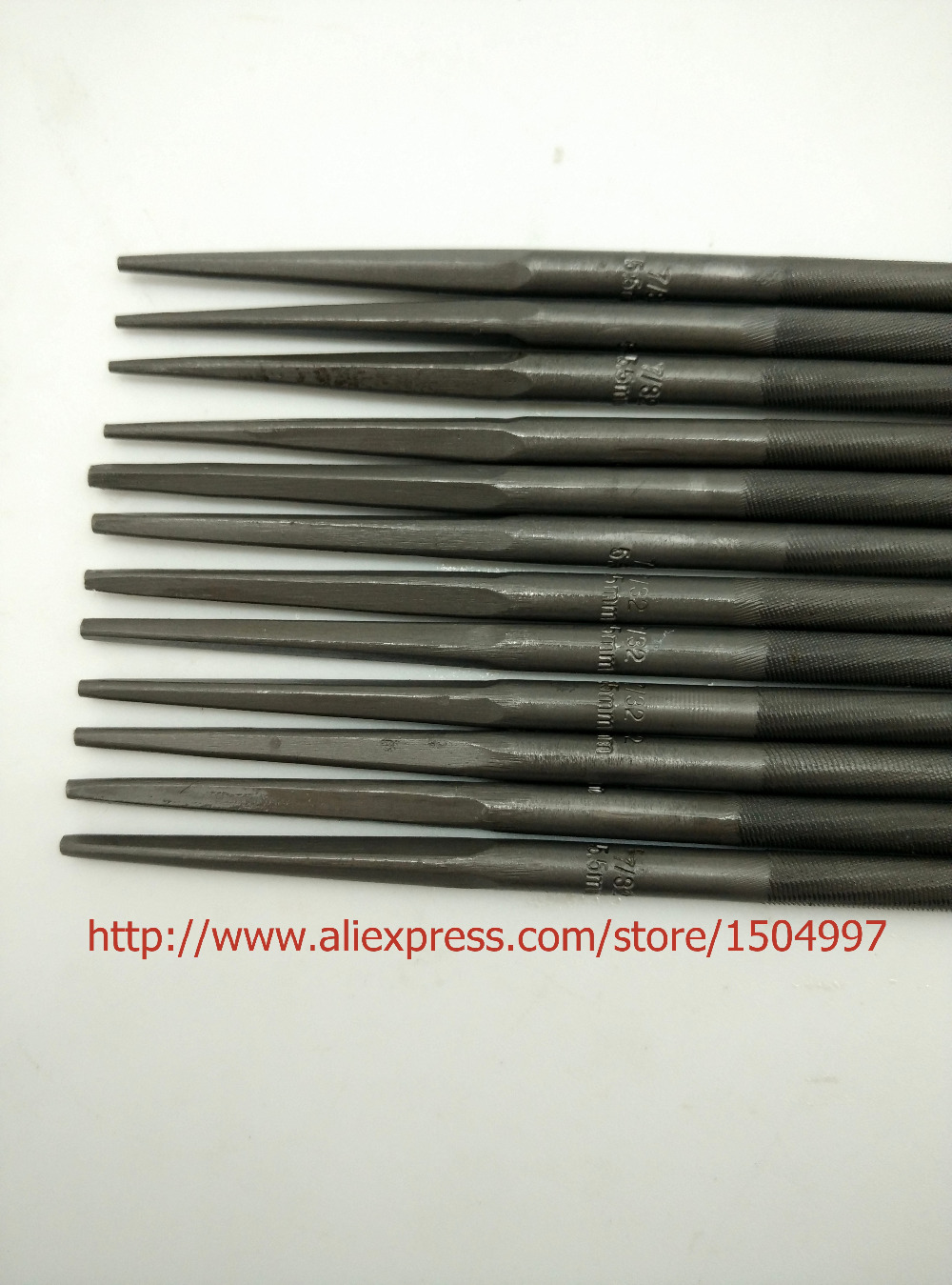 """3PCS #76060 MADE IN JAPAN  CHAINSAW FILES 7/32""""  5.5MM FOR SHARPENING ALL BRANDS CHAINS SAW SHARPENER"""