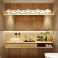Creative LED Mirror Light 0.4M~1.2M AC90 260V Modern White Cosmetic Acrylic Wall lamp Bathroom Lighting Waterproof Free Shipping