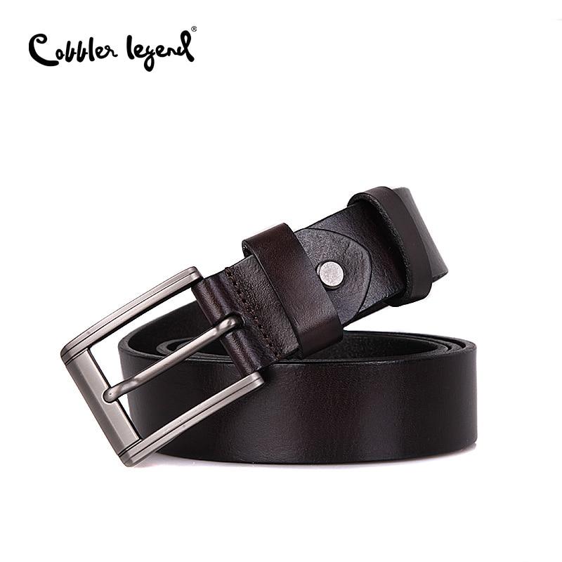 Cobbler Legend Designer   Belts   Men Genuine Leather   Belt   Man Fashion Strap Male Cowhide   Belts   for Men Vintage Jeans Cow Leather